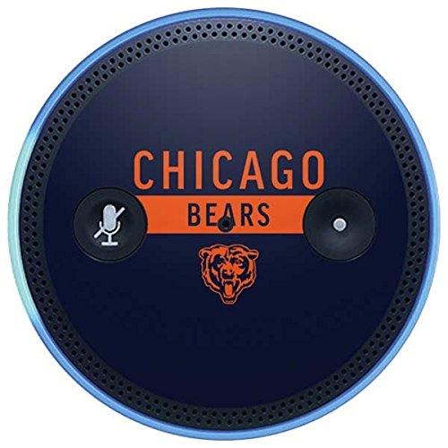 Skinit NFL Chicago Bears Amazon Echo Plus Skin - Chicago Bears Blue Performance Series Design - Ultra Thin, Lightweight Vinyl Decal Protection