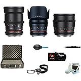 ROKINON CINE DS Portrait Bundle Lens Kit - 35mm + 50mm + 85mm or Sony E
