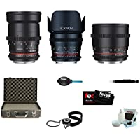 ROKINON CINE DS Portrait Bundle Lens Kit - 35mm + 50mm + 85mm for Sony E
