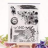 YULEKITO Black Dot Kinds of Circle Clear Stamps for