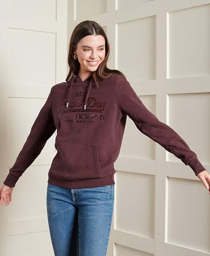 Superdry Womens Vintage Logo Star Sequin Hoodie