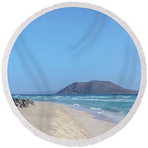 Pixels Round Beach Towel With Tassels featuring ''Corralejo - Fuerteventura'' by Joana Kruse by Pixels