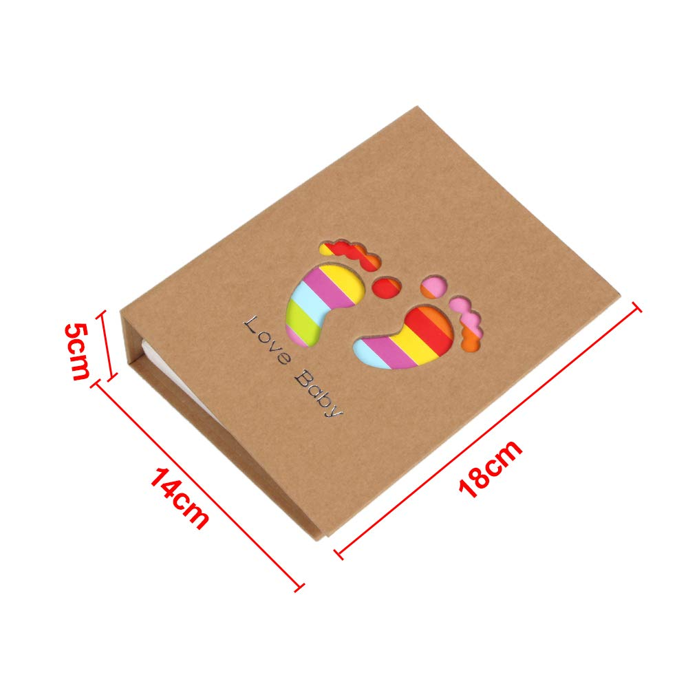 Color 1 Baby Photo Album 4x6 Inches Family Small Photo Albums Holds 100 Photos