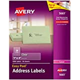 Avery Easy Peel Clear Address Labels for Laser Printers, 1 x 4 Inch, Box of 1000  (5661)