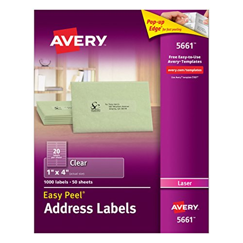 Avery Clear Address Labels Printers