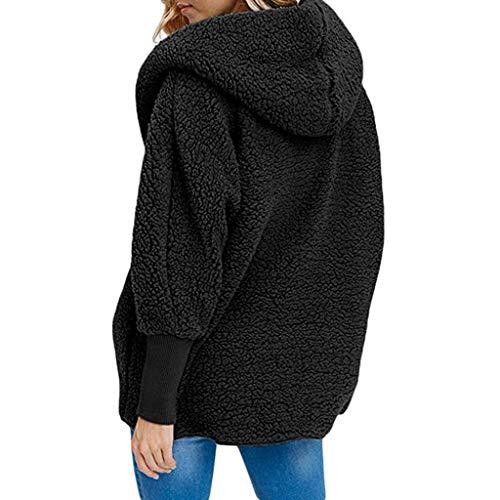Vendita Fashion Jacket Primavera Giacche Nero Fur Luckycat Cardigan Long Plus Padded Winter Party Women Size Coat Wool Autumn Lady Brown Faux Warm wxqqAB7H