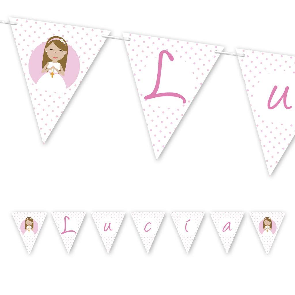 Guirnalda Mi Primera Comunión niña. Guirnalda decorativa. Banderines para fiestas. NAC007: Amazon.es: Handmade