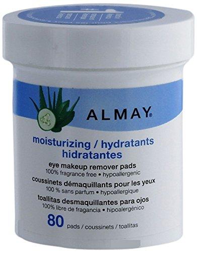Almay Moisturizing Eye Makeup Remover Pads, 80-Pads
