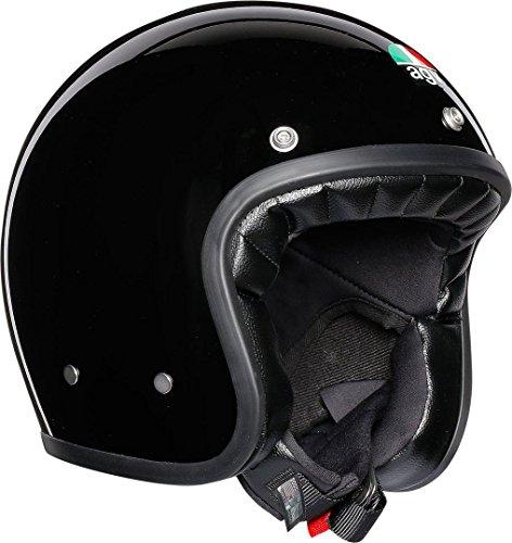 Plain Black Motorcycle Helmet - 8