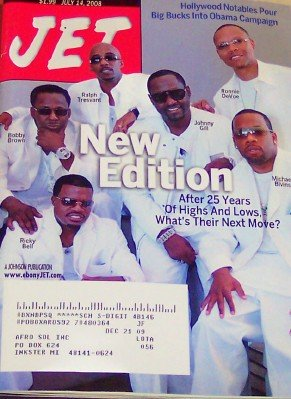 Jet Magazine July 14, 2008 New Edition Soul Music Group of 25 Years