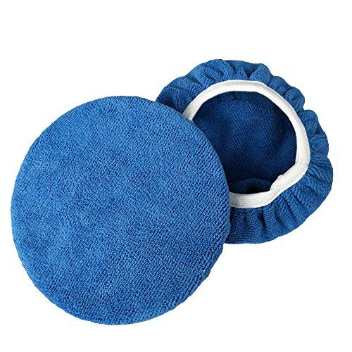 (Gilroy 2pcs Car Polisher Pad Bonnet Terry Cloth Pads Waxer/polishing Cover for Car Polisher)