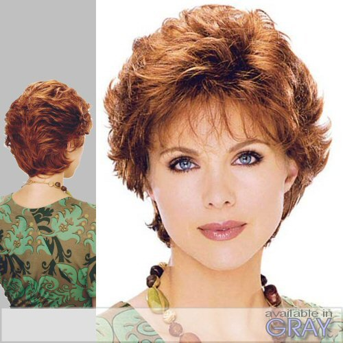 AMBER (Estetica Design) - Synthetic Monofilament Full Wig in R6_28F (Amber Wig)