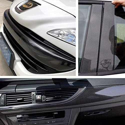 Speyang 6d Carbon Folie Auto Autofolie Carbon Vinyl Wrap 30cm X 152cm Lackschutzfolie Carbon Wasserdichter Flexibel Carbon Folie Kohlefaser Autoaufkleber Mit Luftkanäle Schwarz Auto