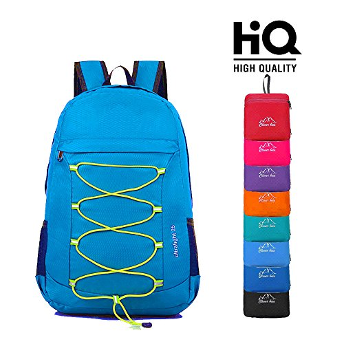 Clever Bees Backpack Foldable Backpack Ultra Lightweight Outdoor Water Resistant Foldable & Packable Hiking Backpack 25L For Travel Champing Hiking School And Sports