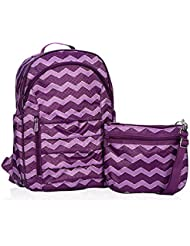 Thirty One Her Deluxe Backpack in Plum Chevron - 4485 - No Monogram