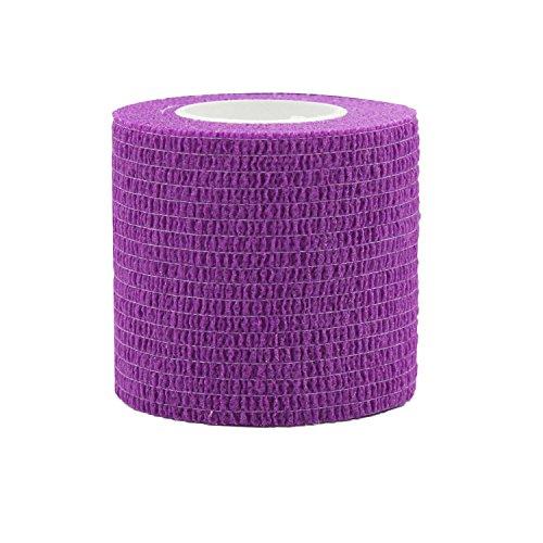 STpro Vet Wrap Medical Tape for Skin Bandage Tape Vet Tape Cohesive Bandage 2 inch x 6 Pack Purple Fabric Bandages Self Sticking Bandage Self Adhering Bandage Wrap Stretch Self Adhesive Tape