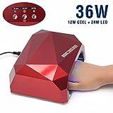 Skuleer(TM)UV &LED Lamp Nail Dryer Diamond Shaped 36W LED CCFL Curing for UV Gel Nail Polish Nail Art Dryer