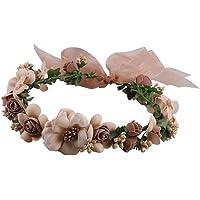 Frcolor Flor corona Diadema Corona para Mujer Novia