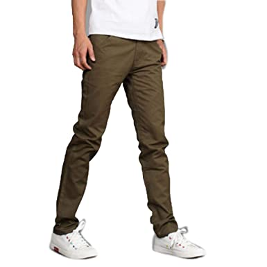 51f25a9320ac Image Unavailable. Image not available for. Color  Zhi Fan Men s Design Casual  Cotton Slim Straight Trousers Fashion Business Pants