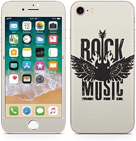 igsticker iPhone SE 2020 iPhone8 iPhone7 専用 スキンシール 全面スキンシール フル 背面 側面 正面 液晶 ステッカー 保護シール 011920 ロック 英字 かっこいい