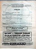 JOURNAL MEDICAL FRANCAIS (LE) N? 1 du 01-01-1921 SOMMAIRE - CHRONIQUE PAR LE PROFESSEUR AGREGE J CASTAIGNE - TRAVAUX EXPERIMENTAUX - DIABETE PANCREATIQUE EXPERIMENTAL PAR LE PROFESSEUR E HEDON DE MONTPELLIER - PATHOLOGIE EXPERIMENTALE DU PANCREAS - LA PANCREATITE HEMORRAGIQUE PAR LES DOCTEURS LEON BINET ET PIERRE BROCQ - TRAVAUX DE CLINIQUE - L'EXAMEN FONCTIONNEL DU PANCREAS PAR LE PROFESSEUR PAUL CARNOT - LE DIABETE PANCREATIQUE CHEZ L'HOMME PAR LE PROFESSEUR AGREGE F RATHERY - LE DIABETE SU...