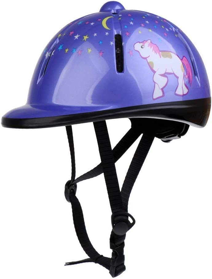 Xiaozxwlhq Adjustable Horse Riding Helmet Equestrian Kids Protective Gear Helmet for 2 to 6 Years Old (Purple) : Sports & Outdoors