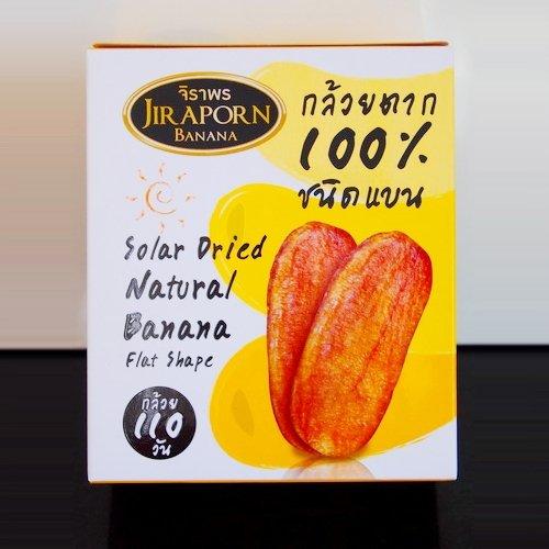 Solar Dried Natural Banana Flat Shape 240 G. (2 Boxes)