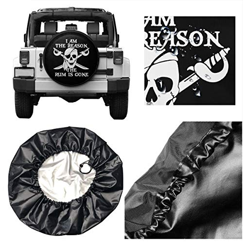 ZBGIGB Marine Corps Gold Globe Patriotic Cars Spare Tire Cover Cutomobile Tire Cover Tyre Size 14 15 16 17 18 Inch