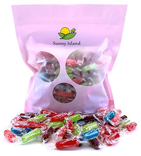 Sunny Island Bulk - Primrose Assorted Rockin Rods Hard Candy, Kosher Individually Wrapped, 2 Pounds Bag