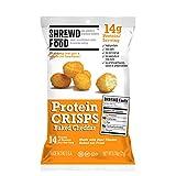Shrewd Food Baked Cheddar Protein Crisps, 8 Count