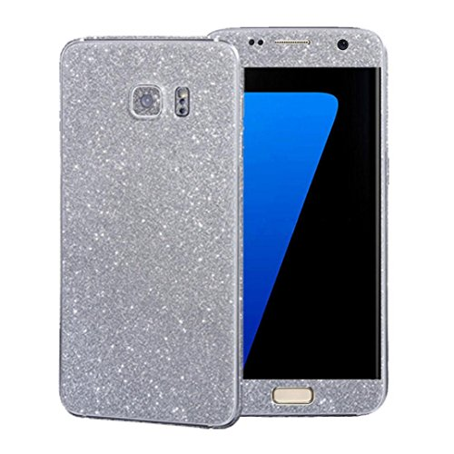 Price comparison product image For Samsung Galaxy S7 Edge, Elaco Luxury Bling Glitter Hard Back Film Case Cover (Sliver