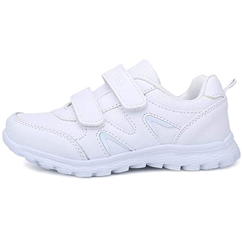5d55a8cb302 Velukin Zapatillas Deportivas Unisex para Niños Transpirables Velcro Blanco  Zapatillas de Running: Amazon.es: Zapatos y complementos