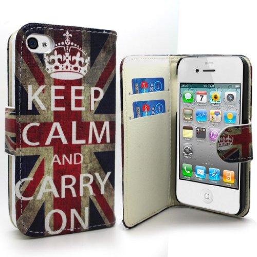 Accessory Master Etui en PU cuir pour iPhone 4S Conception La Livre Style/London Bigben