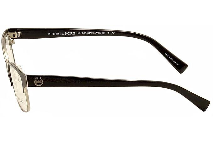 aa1f78609d MICHAEL KORS MK 7004 Eyeglasses 1031 Black Shiny Silver 51-15-135   Amazon.co.uk  Clothing