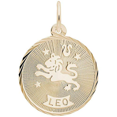 Leo Charm Gold Plated - Rembrandt Charms Leo Charm, Gold Plated Silver