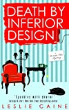 Front cover for the book Death by Inferior Design by Leslie Caine