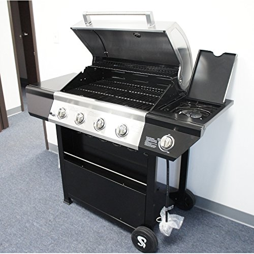 Barbeque Gas Grill,60000 BTU 4 Burner Stainless Steel BBQ Grills with Side Burner (SS720-0697D) China