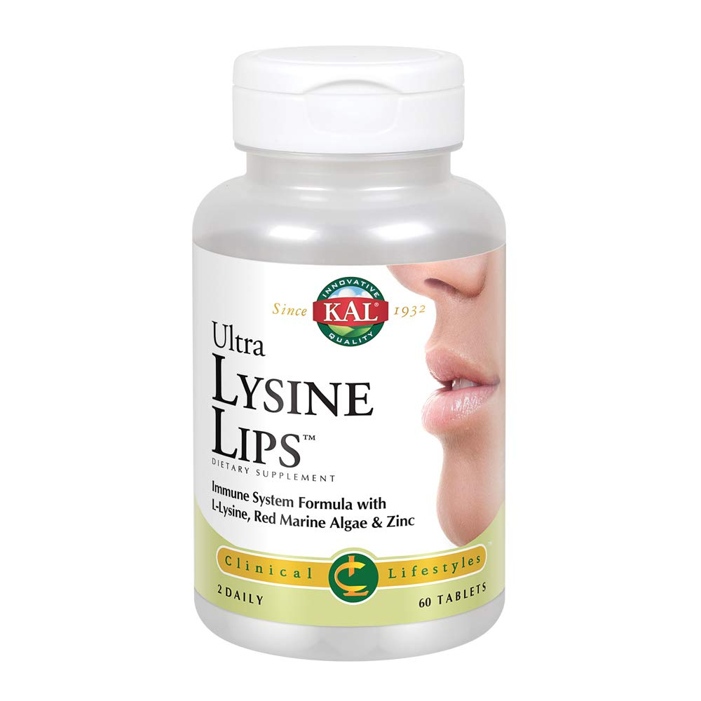 Kal Ultra Lysine Lips Tablets, 60 Count by KAL