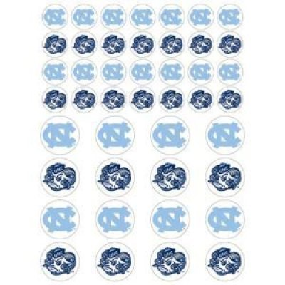Fanatic Cards North Carolina Tar Heels Small Sticker Sheet - 2 Sheets