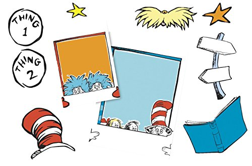 Eureka's Back to School Dr. Seuss Cat in the Hat Selfie Classroom Decorations, -