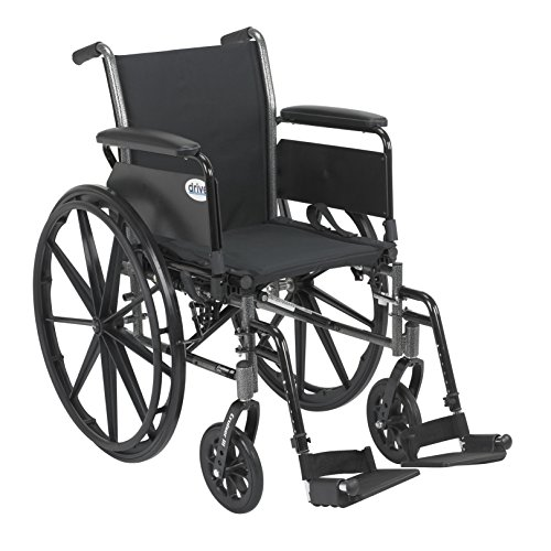 - Drive Cruiser III Light Weight Wheelchair with Flip Back Removable Arms, Full Arms, Swing Away Footrests, 18