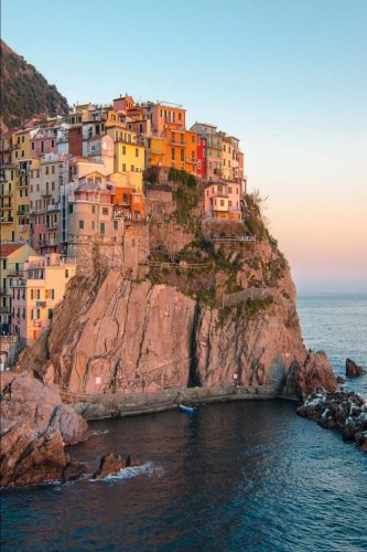 Read Online A Colorful View of Cinque Terre at Sunset Italy Journal: 150 Page Lined Notebook/Diary pdf epub