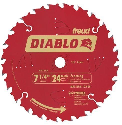 Diablo D0724A 7-1/4 24T Diablo Circular Saw Framing Blade