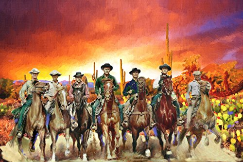 XXL 20 x 30 Poster The Magnificent Seven 7, Digital Oil Pain