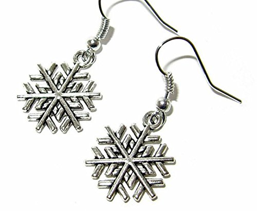[Dangle Earrings Once Upon a Time Elsa Snowflake In Gift Box by Superheroes] (Elsa Once Upon A Time Costume)