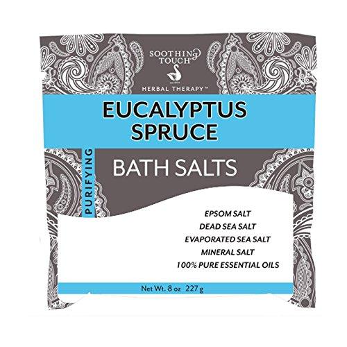 spruce bath salts pouch