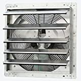 iLIVING ILG8SF18V Wall-Mounted Variable Speed Shutter Exhaust Fan, 18''