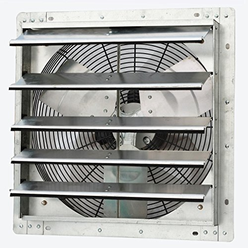 Iliving 18 Inch Variable Speed Shutter Exhaust Fan, Wall-Mounted, 18