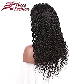 Glueless Full Lace Wig For Black Women Deep Curly 100% Real Human Brazilian Hair