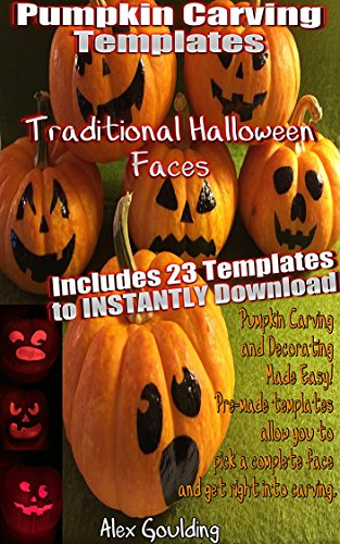 Pumpkin Carving Templates: Traditional Halloween Faces ()